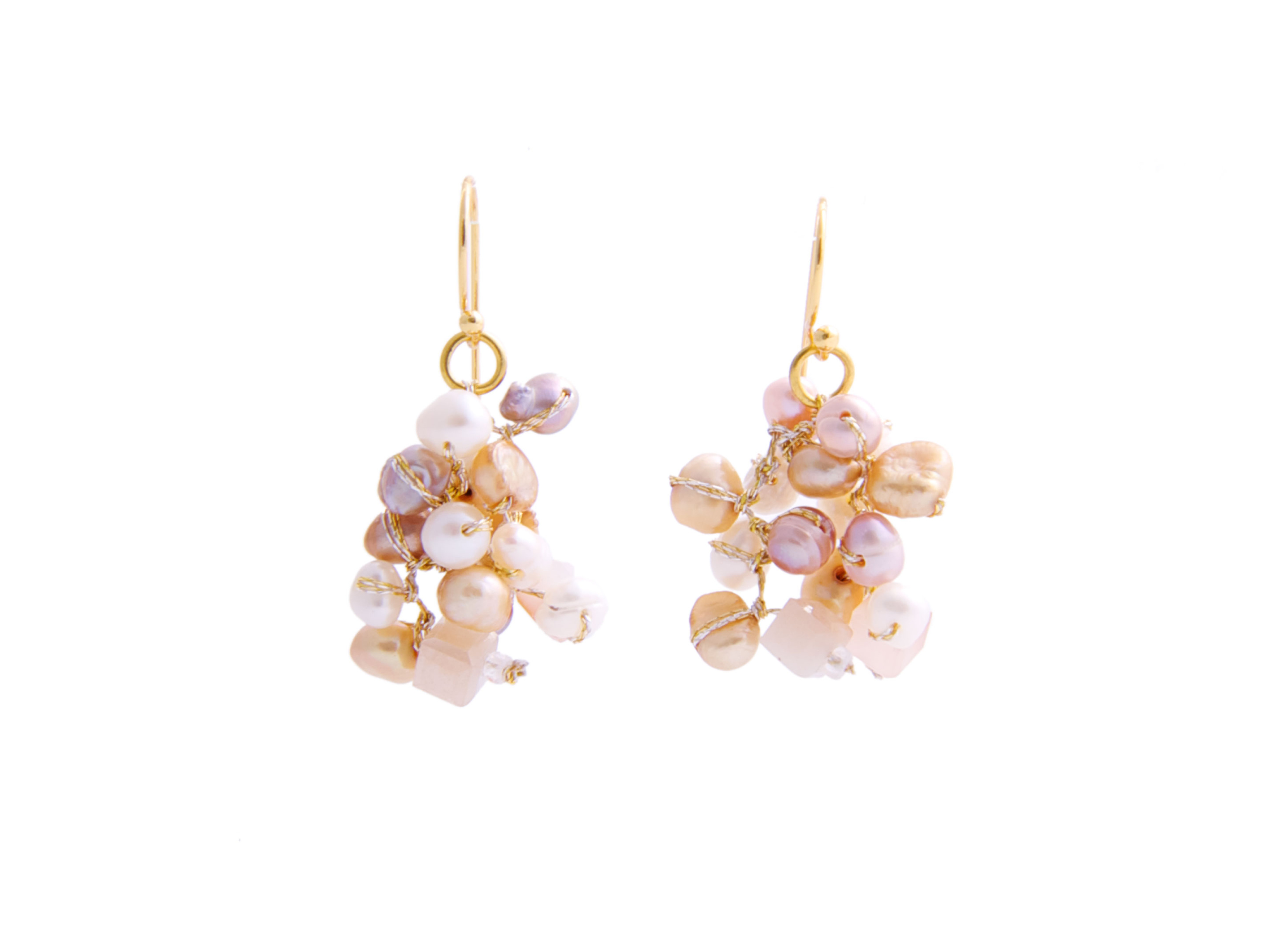 Pearl River Wholesale >> Pearl cluster earring